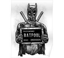 Batpool - Batman Deadpool Mashup! Poster