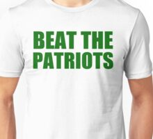 New York Jets - Beat the Patriots - Green Text Unisex T-Shirt