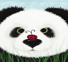 The Panda Bear And His Visitor by OneArtsyMomma