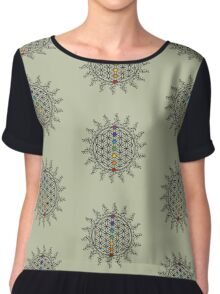FLOWER OF LIFE, CHAKRAS, SPIRITUALITY, YOGA, ZEN,  Chiffon Top