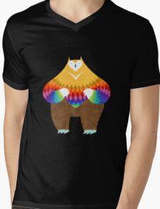 OwlBear Mens V-Neck T-Shirt