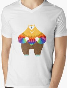 OwlBear Mens V-Neck T-Shirt