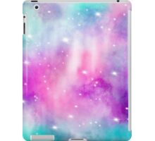 Trendy bright watercolor pastel nebula space hand painted iPad Case/Skin