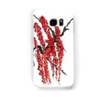 A branch of a blossoming cherry. Red flowers of sakura Samsung Galaxy Case/Skin