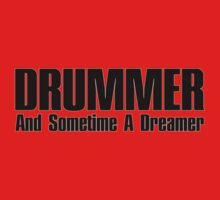 Drummer dreamer  (black)  Baby Tee