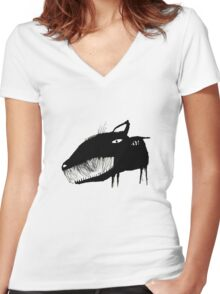 Black Dog Women's Fitted V-Neck T-Shirt