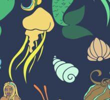 Mermaids in the Ocean  Sticker