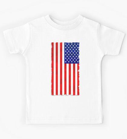 Abstract USA Flag Kids Tee
