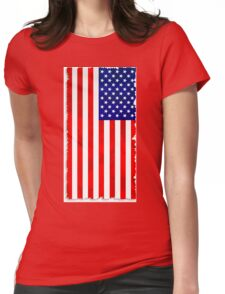 Abstract USA Flag Womens Fitted T-Shirt