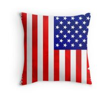 Abstract USA Flag Throw Pillow