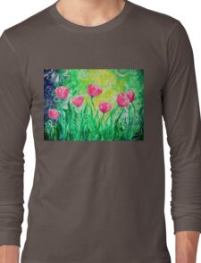 Dancing Tulips by Jan Marvin Long Sleeve T-Shirt