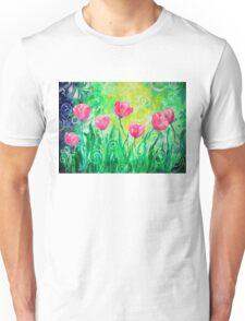 Dancing Tulips by Jan Marvin Unisex T-Shirt