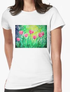 Dancing Tulips by Jan Marvin Womens Fitted T-Shirt