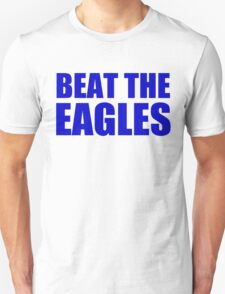 New York Giants - BEAT THE EAGLES - Blue Text T-Shirt
