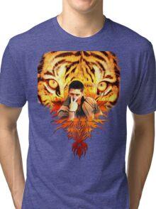 Jensen's eye of the tiger Tri-blend T-Shirt