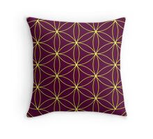 Flower of life - Gold, healing & energizing Throw Pillow