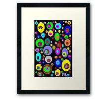 Retro Colorful Circles Framed Print
