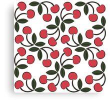 Retro Cherries Canvas Print