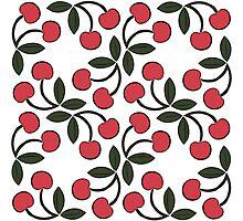 Retro Cherries Photographic Print