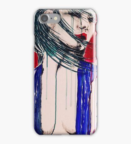 Red moon geisha  iPhone Case/Skin