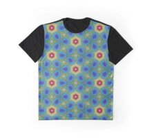 Round Flowers Pattern Graphic T-Shirt