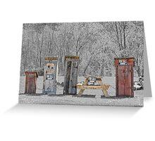 Hillbilly Yard Sale Greeting Card