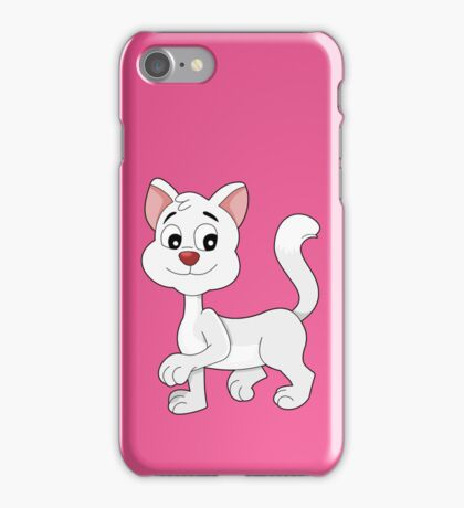 Cute cartoon kitten iPhone Case/Skin