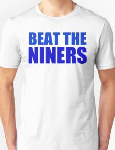 New York Giants - BEAT THE NINERS - Blue T-Shirt