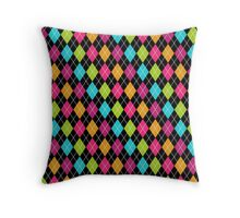 Colorful Argyle Throw Pillow