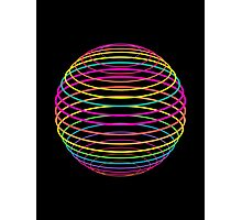 Neon Strings of the Globe Photographic Print