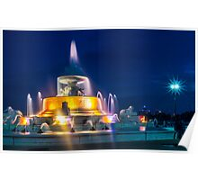 Belle Isle Fountain Poster