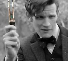 Eleventh Doctor and His Sonic by Themaninthefez