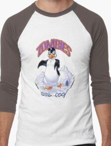 Zombies Are Cool - Necromancer Penguin Men's Baseball ¾ T-Shirt