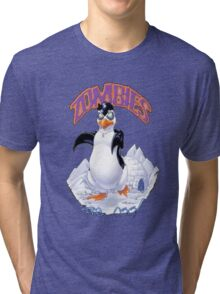 Zombies Are Cool - Necromancer Penguin Tri-blend T-Shirt