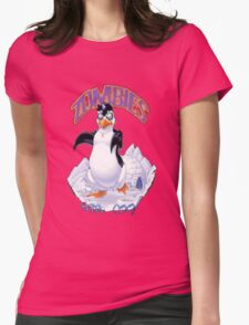 Zombies Are Cool - Necromancer Penguin Womens Fitted T-Shirt