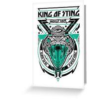 King of Sting Greeting Card