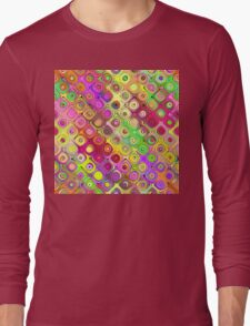 Colorful Abstract Pattern Long Sleeve T-Shirt