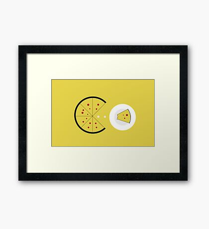 PAC-PIZZA Framed Print