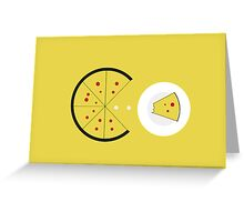 PAC-PIZZA Greeting Card