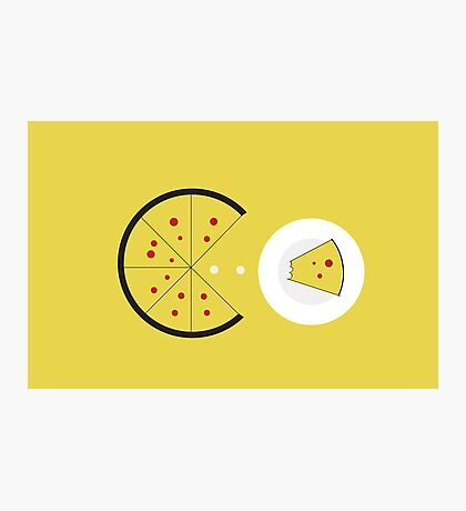 PAC-PIZZA Photographic Print