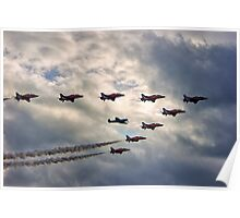 Red Arrows and Spitfire Poster