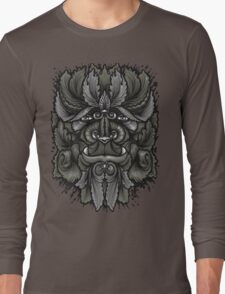 Filigree Leaves Forest Creature Beast Vintage Variant Long Sleeve T-Shirt