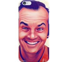 Smiling young Jack Nicholson digital painting iPhone Case/Skin