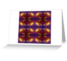 Pink Dahlia flower pattern Greeting Card