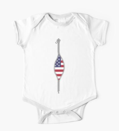 real american patriot inside One Piece - Short Sleeve