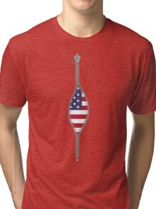 real american patriot inside Tri-blend T-Shirt