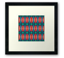 Morning Tulips Abstract Pattern Framed Print
