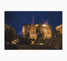 Syracuse, Sicily Blue Hour - Fountain of Diana on Piazza Archimede One Piece - Short Sleeve