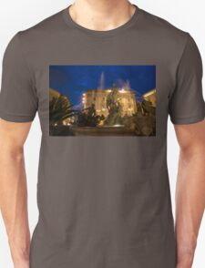 Syracuse, Sicily Blue Hour - Fountain of Diana on Piazza Archimede Unisex T-Shirt