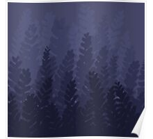 Twilight Ferny Forest Poster